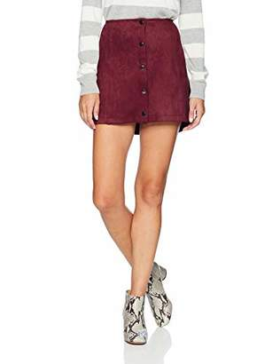Jack by BB Dakota Junior's Can't Buy Me Love Faux Suede Scuba Snap Front Skirt