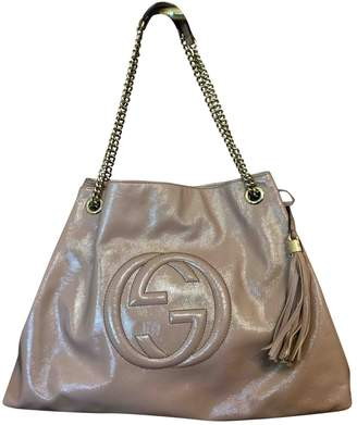 Gucci Hobo Pink Patent leather Handbag