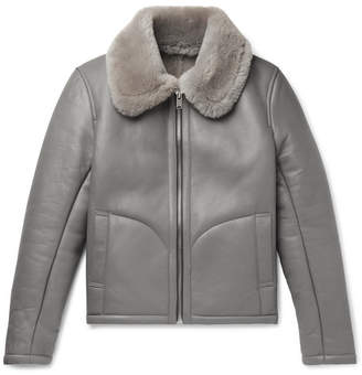 YMC Shearling Jacket - Men - Gray