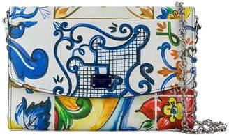 Dolce & Gabbana floral chain wallet