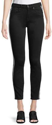 7 For All Mankind Side-Stripe Ankle Skinny Jeans