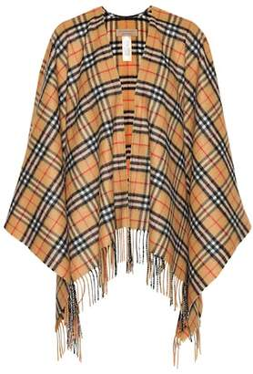 Burberry Vintage Check cashmere and wool poncho