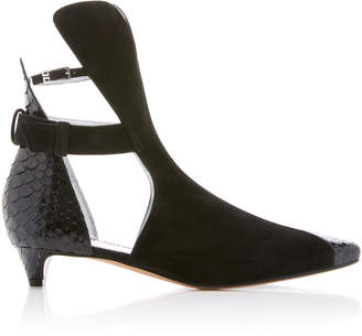 Givenchy Show Python and Suede Ankle Boot