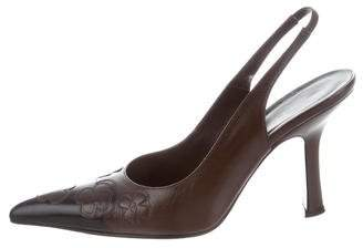 Chanel Leather Slingback Pumps