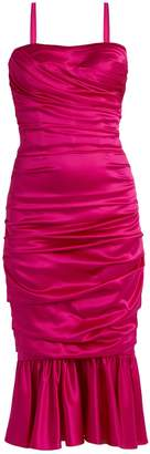 Dolce & Gabbana Ruched stretch-silk dress