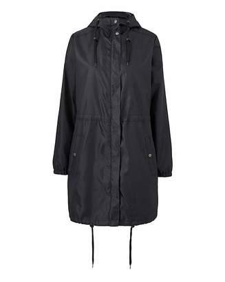 Fashion World Shower Resistant Plain Pac a Mac Parka