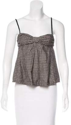 Isabel Marant Sleeveless Plaid Top