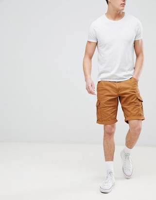 Esprit (エスプリ) - Esprit Relaxed Fit Cargo Shorts In Tan