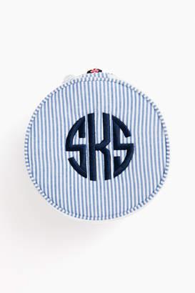 Caton's Wharf Seersucker Button Bag
