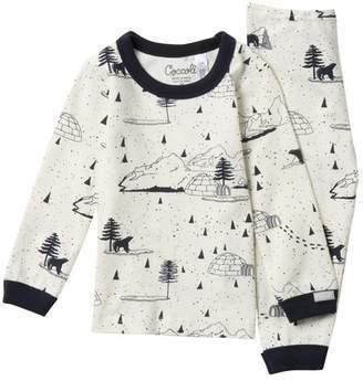 Coccoli Winter Print Top & Pants PJ Set (Baby Boys)