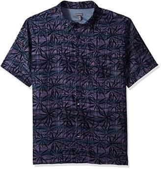 Van Heusen Men's Tall Size Big Oasis Printed Short Sleeve Shirt