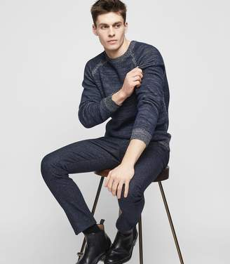 Reiss CHARLSTON CREW-NECK JUMPER Navy