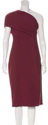 HANEY One-Shoulder Zip-Up Dress