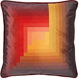 A.N.A Romero Collection Pyramid-Pattern Velvet Pillow