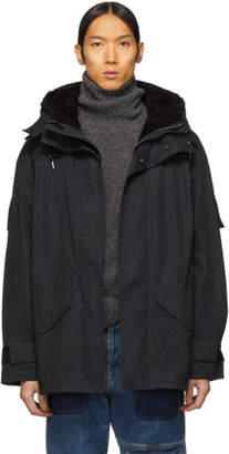 Yves Salomon Black Army Cotton Jacket