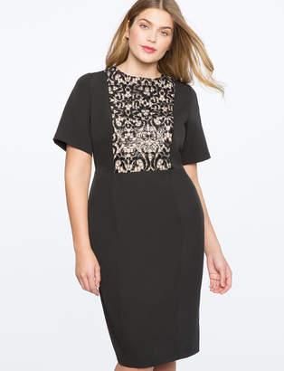 ELOQUII Sequin Lace Bodice Dress