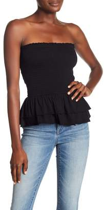 Abound Smocked Layered Ruffle Tube Top
