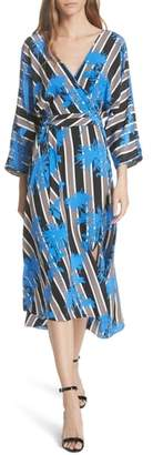 Diane von Furstenberg Eloise Silk Wrap Midi Dress