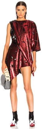 Marques Almeida Marques ' Almeida Draped Sequin Dress