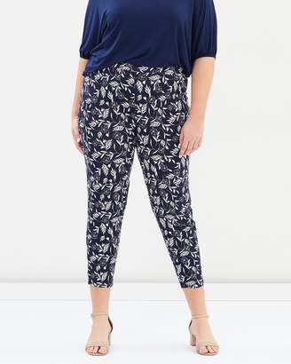 Evans Mono Print Tapered Pants