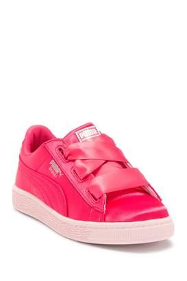 Puma Basket Heart Satin Sneaker (Little Kid)