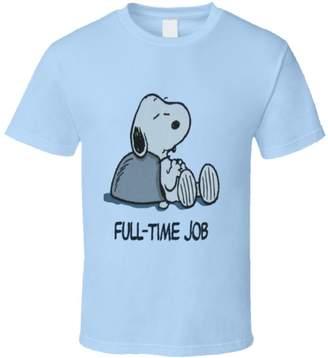 Perfect Fit T Shirts Full-Time Job - Snoopy - Peanuts T Shirt 2XL