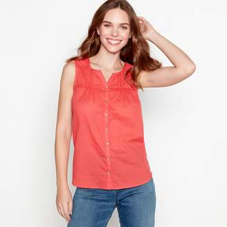 Mantaray Red Cotton Top