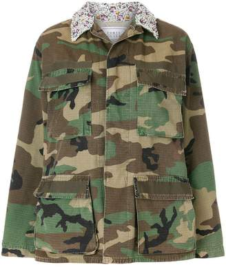 Couture Forte Dei Marmi embellished camouflage military jacket
