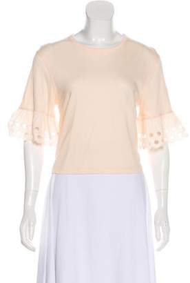 See by Chloe Solid Bell Sleeve Top