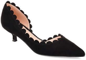 Journee Collection Womens Jc Taavi Pumps Slip-on Pointed Toe Kitten Heel