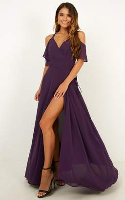 Showpo Give You My All Dress In aubergine - 6 (XS) Dresses