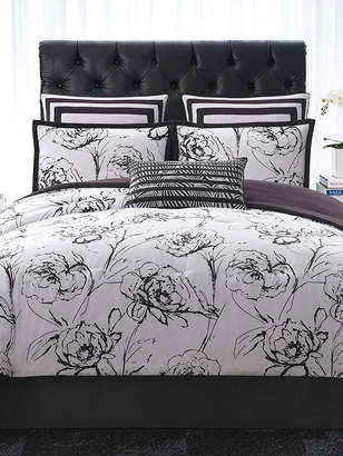 Christian Siriano New York Graphic Floral Comforter Set