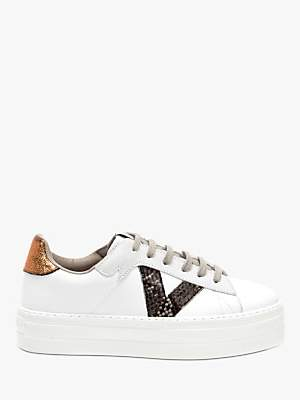 Victoria Barcelona Leather Flatform Trainers, White