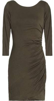Bailey 44 Twist-Back Ruched Stretch-Jersey Mini Dress