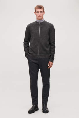 Cos CONTRAST-QUALITY ZIP-UP JUMPER