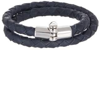 Miansai Rovos Double-Wrap Braided Leather Bracelet