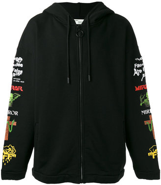 Off-White embroidered hoodie $602 thestylecure.com