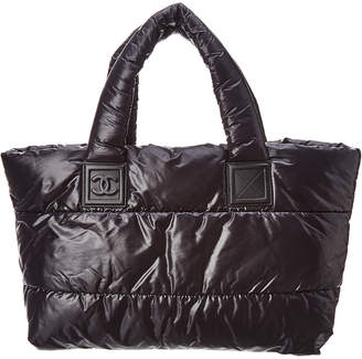 Chanel Black Quilted Nylon Cocoon Large Tote