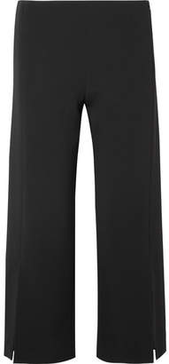The Row Paber Cropped Cady Wide-leg Pants - Black