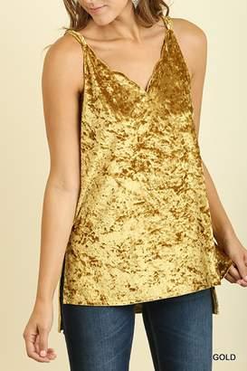 Umgee USA Gold Velvet Tank