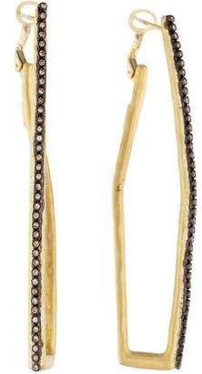 Armenta Diamond Elongated Hoops