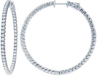 Diana M Fine Jewelry 14K 1.85 Ct. Tw. Diamond Hoops