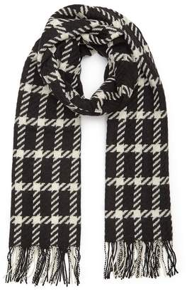 Reiss Tempest Checked Wool Scarf