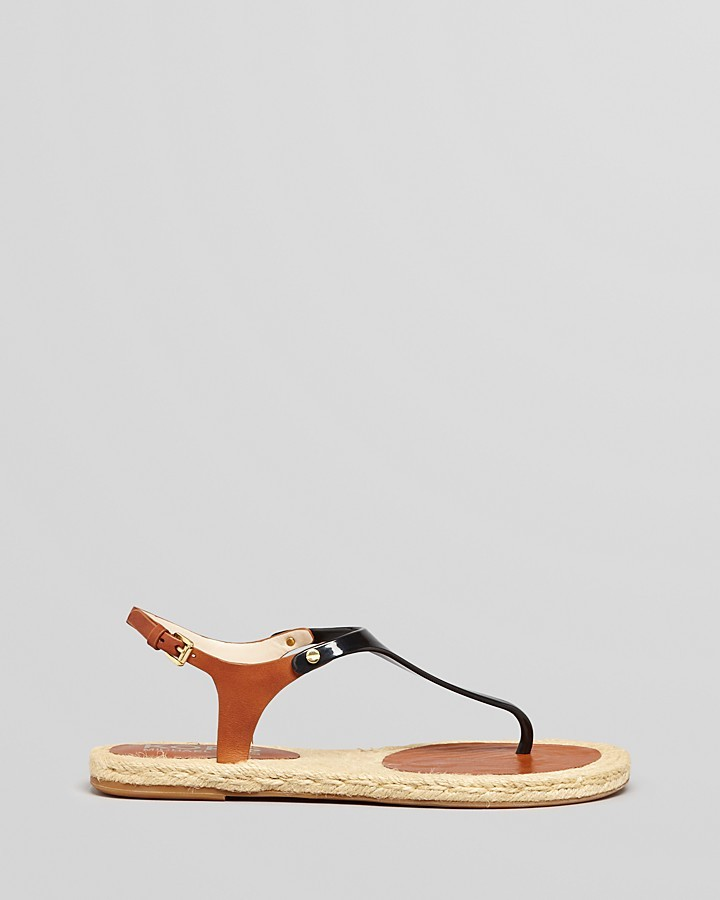 KORS Espadrille Thong Sandals - Stephy Flat