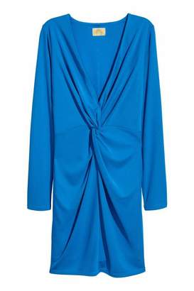 H&M Fitted Dress - Blue - Women