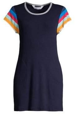 Splendid Lifegaurd Ribbed T-Shirt Dress