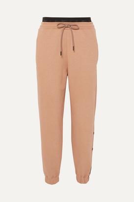 Reebok x Victoria Beckham Embroidered Cotton-jersey Track Pants - Blush