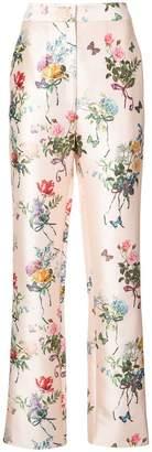 Monique Lhuillier floral print trousers