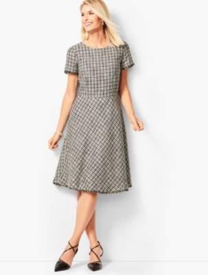 Talbots Tweed Fit & Flare Dress
