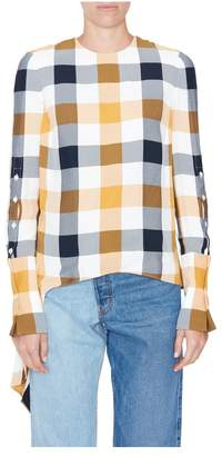Monse Gingham Button-Down Sleeves Top